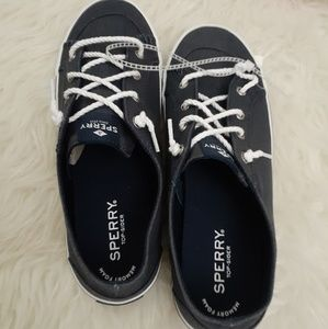 Sperry Navy blue women canvas shoes